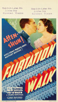 "Movie Posters:Musical, Flirtation Walk (First National, 1934). Midget Window Card (8"" X14"")...."
