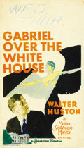"Movie Posters:Fantasy, Gabriel Over the White House (MGM, 1933). Midget Window Card (8"" X14"")...."