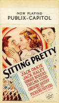"Movie Posters:Musical, Sitting Pretty (Paramount, 1933). Midget Window Card (8"" X 14"")...."