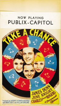 "Take a Chance (Paramount, 1933). Midget Window Card (8"" X 14"")"