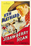 "Movie Posters:Western, Strawberry Roan (Universal, 1933). One Sheet (27"" X 41"")...."