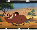 animation art:Production Cel, The Lion King's Timon & Pumbaa Animation Production CelOriginal Art (Disney, circa 1995)....
