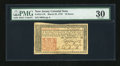 Colonial Notes:New Jersey, New Jersey March 25, 1776 18d PMG Very Fine 30....