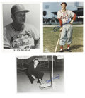 """Autographs:Photos, Stan Musial Single Signed Photographs Lot of 3. Stan the Man hasadded his signature to the three 8x10"""" photographs. There ..."""