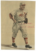 """Baseball Collectibles:Others, Frank Frisch Signed magazine Clipping. Plucked from the pages of a1950s publication, this 7x10"""" photo features an artistic..."""