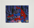 animation art:Production Cel, Spider-Man Official Marvel Collectors Edition Cel Signed by StanLee (Marvel Studios, 1998)....