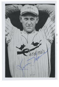 Autographs:Photos, Jesse Haines Signed Photograph. A perusal of the record books forthe St. Louis Cardinals will reveal that no hurler pitche...