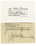 Autographs:Post Cards, 1952 Rabbit Maranville Signed Government Postcard. The Hall of Famegreat Rabbit Maranville was known for his antics both o...