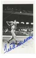 Autographs:Letters, Ted Williams Signed Postcard. Elegant Hall of Fame transmission ofTed Williams' signature appears on this black and white ...