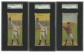 Baseball Cards:Lots, 1911 T201 Mecca Double Folders SGC VG 40 Group Lot of 3. Lot of 3 SGC VG 40 cards from the 1911 T201 Mecca Double Folders i...