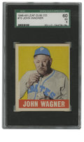 Baseball Cards:Singles (1940-1949), 1948-49 Leaf Honus Wagner #70 SGC EX 60. Legendary shortstop Honus Wagner spent over a half century with his beloved Pirat...