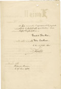 Autographs:Non-American, Prince Louis II of Monaco Document Signed,...