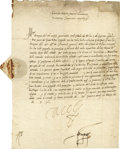 Autographs:Non-American, Charles V, Holy Roman Emperor Document Signed,...