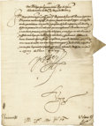 Autographs:Non-American, King Philip II of Spain Document Signed,...
