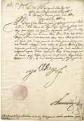 Autographs:Non-American, King Philip IV of Spain Document Signed,...