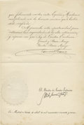 Autographs:Non-American, General Francisco Franco Document Signed,...