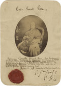 Autographs:Non-American, Pope Pius IX Photograph Signed,...