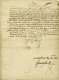 Autographs:Non-American, King Philip III of Spain Document Signed,...