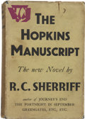 Books:First Editions, R. C. Sherriff. The Hopkins Manuscript. London: VictorGollancz Ltd., 1939....
