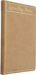 Books:First Editions, Olaf Stapledon. Latter-Day Psalms. Liverpool: Henry Young& Sons, Ltd., 1914.. ...
