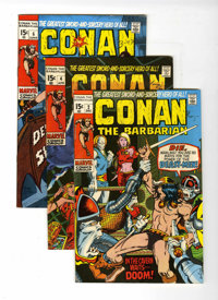 Conan the Barbarian #2, 4 and 6 Group (Marvel, 1970-71) Condition: Average VF/NM.... (Total: 3 Comic Books)