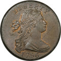 Large Cents, 1796 1C Draped Bust, Reverse of 1795. MS65 Red and Brown PCGS.S-93, B-34, R.3....