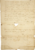Autographs:Statesmen, [Ethan Allen] Partial Manuscript Document Clerically Signed...