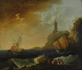 Fine Art - Painting, European:Antique  (Pre 1900), School of CLAUDE-JOSEPH VERNET (French, 1714-1789).Shipwreck. Oil on canvas. 25 x 29-1/2 inches (63.5 x 74.9cm). ...