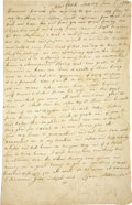 Autographs:Military Figures, [Revolutionary War] Isaac Stetson Jr. Autograph Letter Signed....