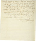 Autographs:Military Figures, [Revolutionary War] Jesse Lukens Important Content Autograph Letter Signed....