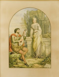 Fine Art - Painting, European:Antique  (Pre 1900), CHARLES HEATH WILSON (British, 1809-1882). The Troubadour and His Lady, 1878. Watercolor and graphite on paper. 20-3/4 x...