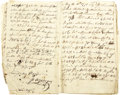 Autographs:Military Figures, Anthony Wayne Archive of Journals with Nine Signatures.... (Total: 3 Items)