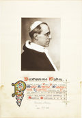 Autographs:Non-American, Pope Pius XII Photograph Signed,...