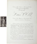 Autographs:Non-American, Pope Pius XII Document Signed,...