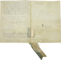 Autographs:Non-American, Queen Maria II of Portugal Manuscript Document Signed....