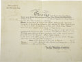 Autographs:Non-American, Queen Mary of England, Edward, Prince of Wales, and Albert, Duke ofYork Document Signed,...