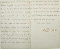 "Autographs:Non-American, Victoria Letter Signed ""Victoria R"" as Queen of GreatBritain...."