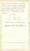 Autographs:Non-American, King Manuel II of Portugal Document Signed,...