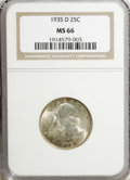 Washington Quarters, 1935-D 25C MS66 NGC....