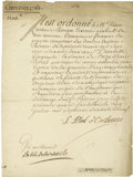 Autographs:Non-American, Louis Philippe I, Duke of Orléans Manuscript Document Signed...