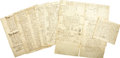 Autographs:Statesmen, [Native American] Archive of Eight Colonial Documents(1741-1772)... (Total: 8 Items)