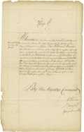 Autographs:Non-American, King George II of Great Britain Manuscript Document Signed Twice...