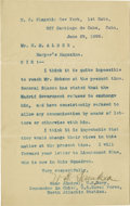 Autographs:Military Figures, William T. Sampson 1898 Typed Letter Signed...
