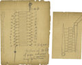 Autographs:Inventors, Thomas A. Edison Autograph Diagrams. ... (Total: 2 Items)