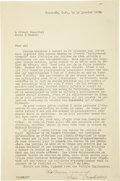 Autographs:Non-American, Leon Trotsky Important Typed Letter Signed...