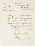 Autographs:Celebrities, George Francis Train Autograph Letter Signed...