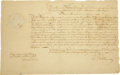Autographs:Statesmen, [Colonial Americana] William Greene Manuscript Document Signed...