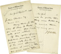 Autographs:Inventors, John Jacob Astor IV Autograph Letter Signed...
