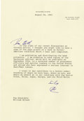 "Autographs:U.S. Presidents, Richard Nixon Typed Letter Signed ""RN."" ..."