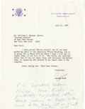 Autographs:U.S. Presidents, George H. W. Bush Typed Letter Signed Twice as Vice President. ...